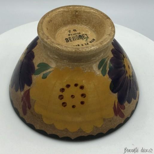 """Old small bowl 6.5 cm high stamped """"F H France Benodet"""""""