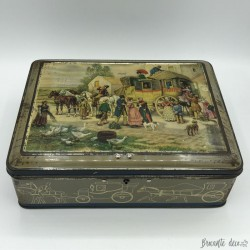 "Old lithographed tin box ""édité par Alsa Nancy"""