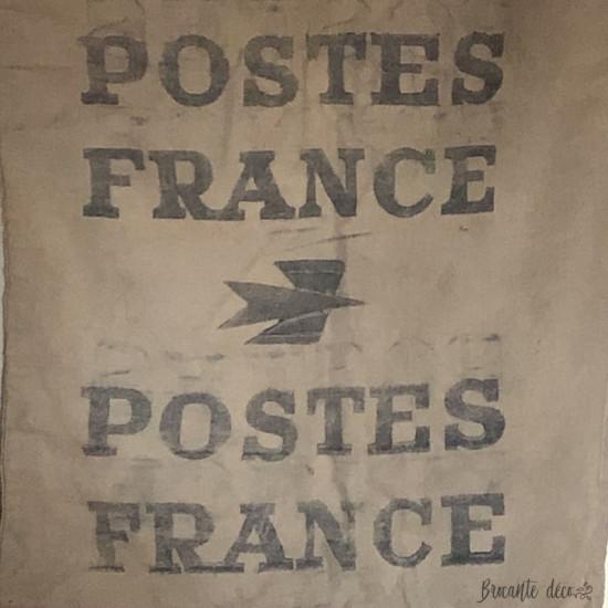Ancien et grand sac en toile de la Poste