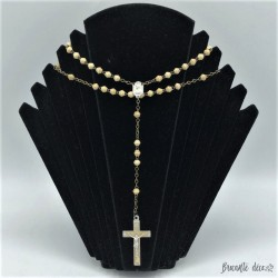Old bovine bone rosary