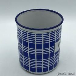 Pots à épices et à cristaux B B |En tôle émaillée | Bleu et blanc 1920