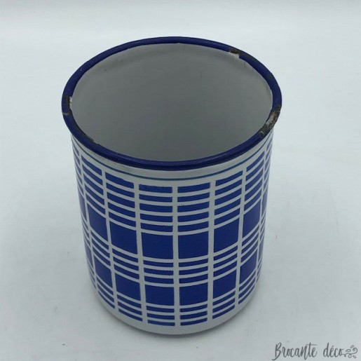 Spice and crystal pots B B | Enamelled sheet metal | Blue and white 1920