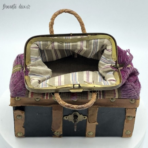 Old trunk travel bag for doll | 19th century | Around 1875