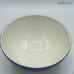 Lot of 2 old bowls stamped Céranord St Amand - Blue - Yellow