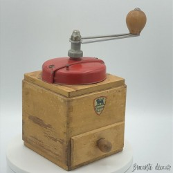 Old Peugeot Frères coffee mill | Red