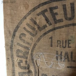 2 old burlap bags | Cher farmers | 1957 - 1965 | Bourges