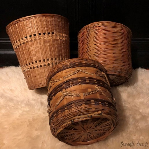 Lot of 3 baskets or pot covers   Vintage   Wicker and rattan
