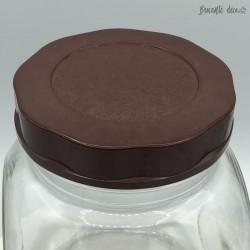 Ancien bocal à bonbons d'épicerie | Couvercle en bakélite | Années 50
