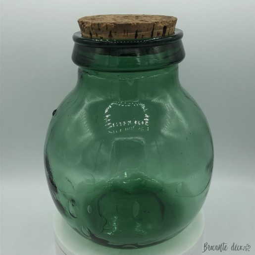 Old big glass jar | Viresa | Green | Vintage