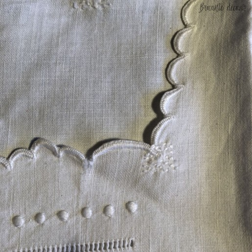 Old embroidered and openwork nightgown   Large   In cotton