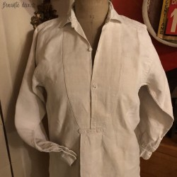 Old biaude or peasant shirt in hemp or linen