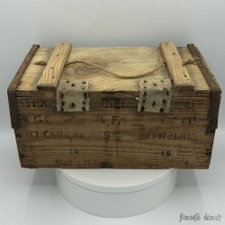 Old military ammunition crate | In wood