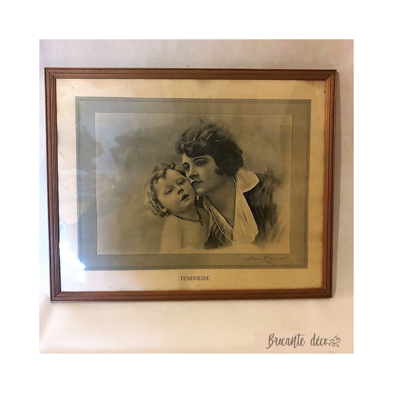 """Tableau lithographie """"Tendresse"""""""