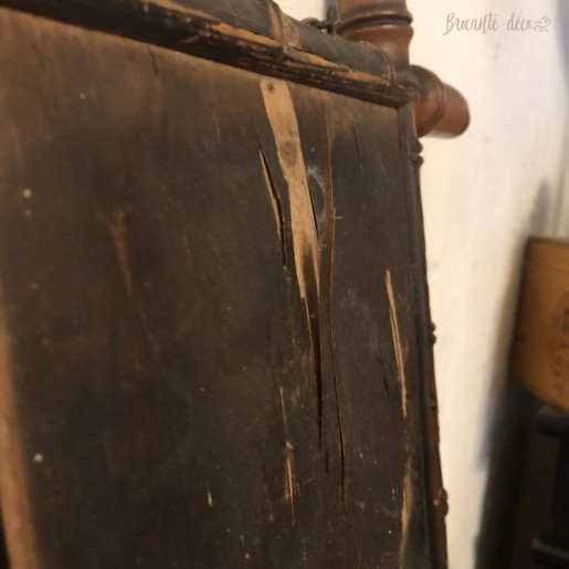 Old wooden mirror | Bamboo style | 1920s