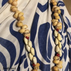 Vintage Tahitian shell necklace | Large pendant | 70s