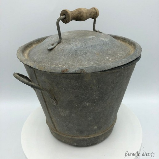 Old zinc washing machine | Height 18 cm | Old toy