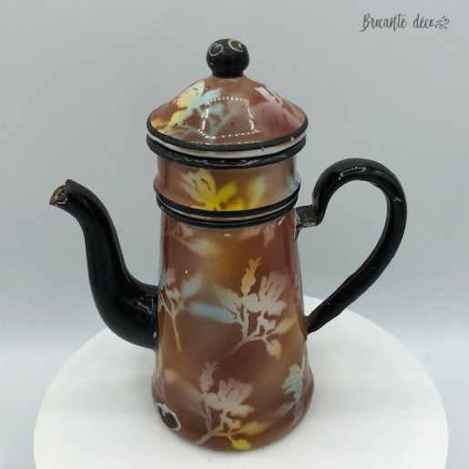 Very small coffee pot in enameled sheet | 2 Cups | B.B. 18361 Filed