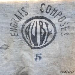 Ancien sac en toile de jute | Engrais Auby