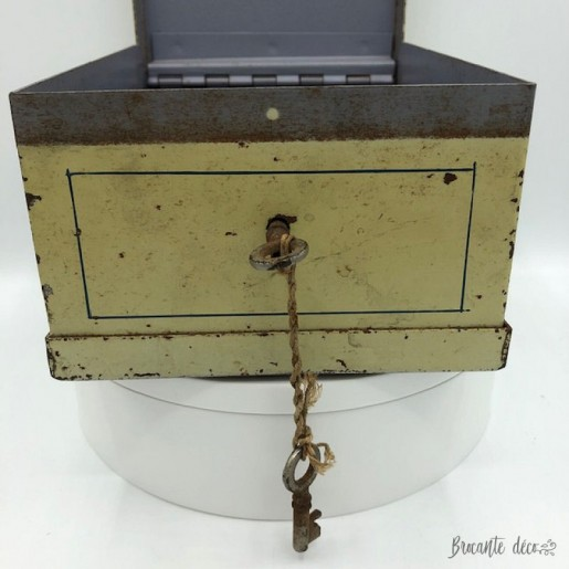 Old safe, case or cassette circa 1930 | Pierrot and Colombine
