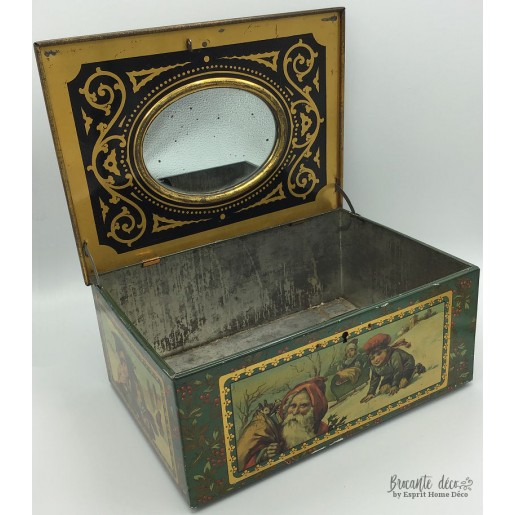 Old lithographed jewelery box