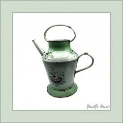 Old jug enameled watering can