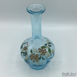 Blue enameled carafe in relief | Old