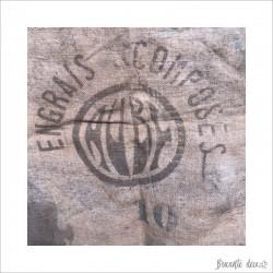 """Old burlap bag """"ENGRAIS AUBY"""" France"""