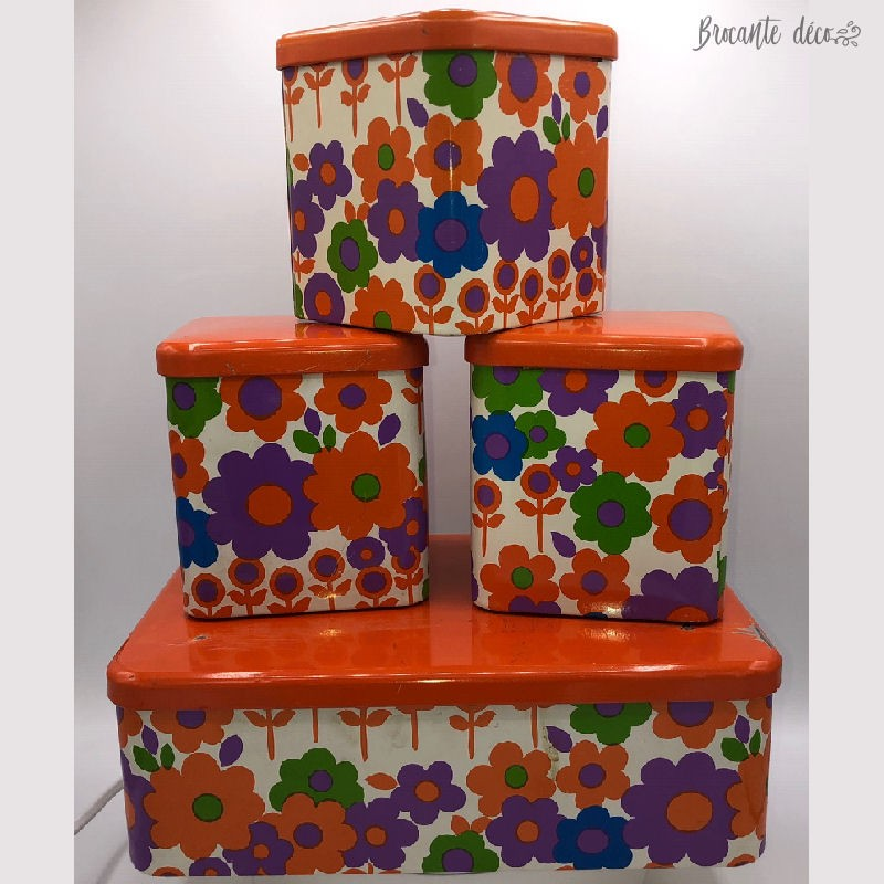 Set of 4 vintage 70's boxes from Massilly France