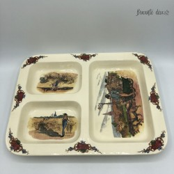 Tray with 3 compartments Obernai Sarreguemines France