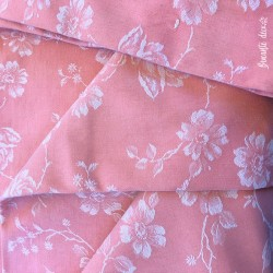 ✄ Old mattress canvas  4 m X 1.60 m  Pink white floral pattern