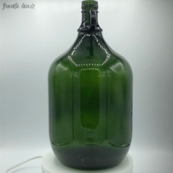 Old Dame Jeanne dark green | 5 Liters | vintage