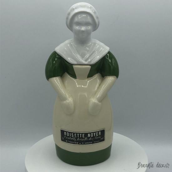 Old earthenware bottle   Hazelnut Walnut   St Amand   Peasant woman