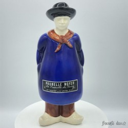Ancienne bouteille en faïence | Prunelle Noyer | St Amand Cher | Paysan