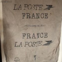 Old mail bag | De La Poste France | Canvas
