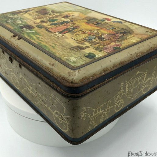 Old Advertising Box | In lithographed sheet metal | Alsa nancy