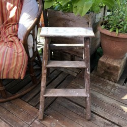 Small workshop stepladder | Old | Wooden | 2 steps