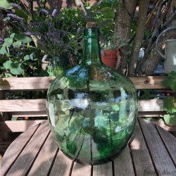 Dame Jeanne green old | 20 Liters | Vintage decor