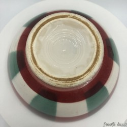 Old dish towel pattern | Red, white and green