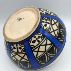 Old ceramic salad bowl signed Yvon Roy