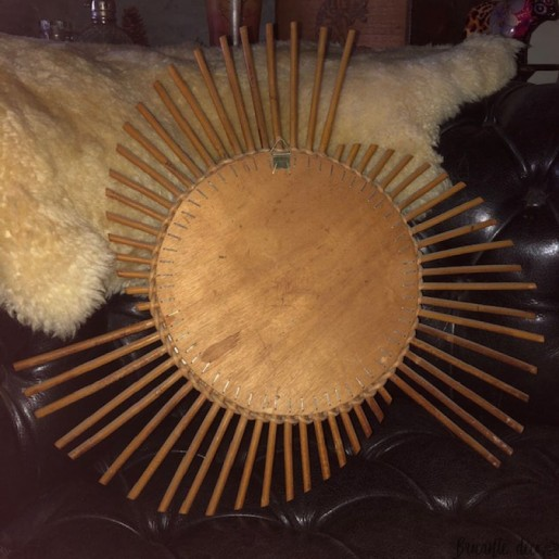 ☼ Old sun mirror | vintage | In rattan | Wall decoration