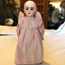 Ancienne poupée Jumeau Bébé du bon Marché | Bouche ouverte | Tête porcelaine
