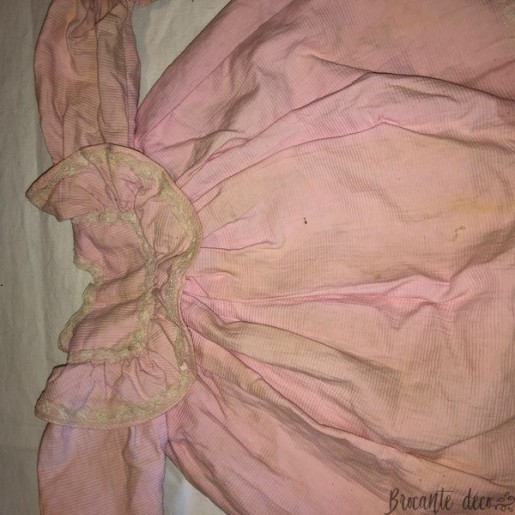 Old Jumeau doll dress with panty | Pink color | Doll collection