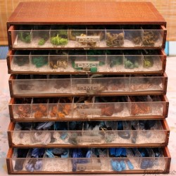 Old small cabinet 6 drawers DMC | With coils skeins DMC | Embroidery | D I Y