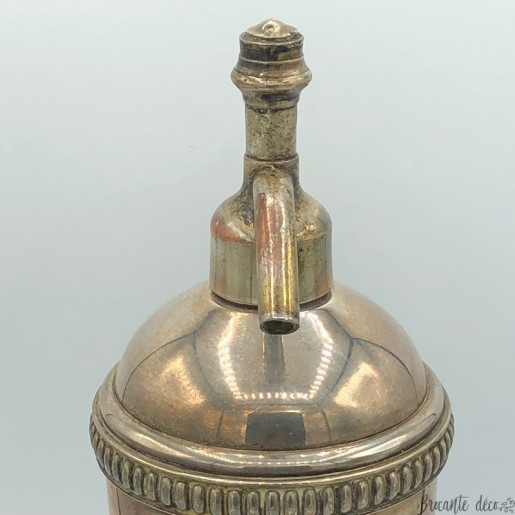 Old silver-plated siphon   Bistro bar collection