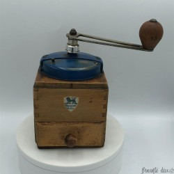 Old coffee grinder | Peugeot Brothers | Blue | Collection