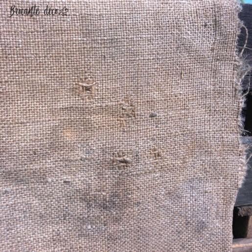 "Ancien sac en toile de jute ""ENGRAIS AUBY"""
