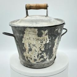Ancienne petite lessiveuse en zinc | Collection Jouets anciens
