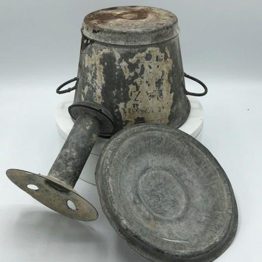 Ancienne petite lessiveuse en zinc   Collection Jouets anciens