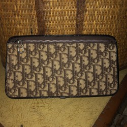 Christian Dior clutch | Made in France | In monogrammed fabrics