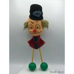 Vintage clown clown coat rack